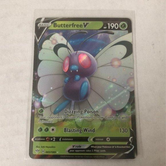 Butterfree V Full Art Pokemon Card